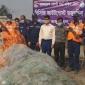 তজুমদ্দিনে ১৬ হাজার মিটার অবৈধ জাল জব্দ, এক জেলের কারাদণ্ড